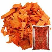 Декоративная щепа Оранжевая