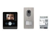 Комплект видеодомофона PERLA (черный лак) с вызывной панелью LITHOS
