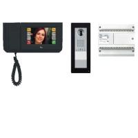 Комплект видеодомофона MITHO (черный лак) с вызывной панелью THANGRAM