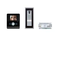 Комплект видеодомофона PERLA (черный лак) с вызывной панелью THANGRAM
