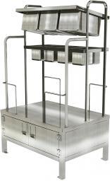 Стойка хранения и раздачи столовых приборов, подносов и хлеба судовая СРСспх-200-200-3