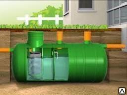 Локальная канализация STBIO-7 (объём 7 куб.м) с биофильтром