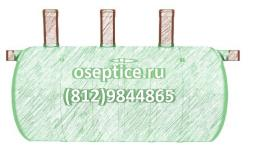 Септик стеклопластиковый ST-8 (объём 8 куб.м)