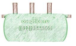 Септик стеклопластиковый ST-7 (объём 7 куб.м)