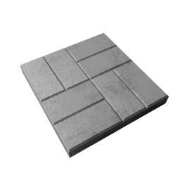 Бетонная тротуарная плитка 8 КИРПИЧЕЙ 400х400х50 (серая)
