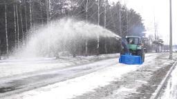 Снегоочиститель роторный на заднюю навеску МТЗ