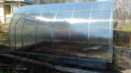 Теплица «Дачница усиленная» 4х3 метра, 65 см., труба 30*20 цинк