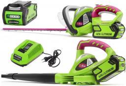 Промокомплект: воздуходувка + ножницы Monferme 24157M + 22277M с аккумулятором 4Ач и зарядным устройством