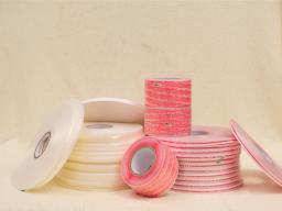 Resealable HDPE Material Double-sided Bag Sealing Tape Roll for PP Bags JH-T01