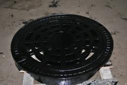 Дождеприемник ВЧШГ круглый (плавающий) шарнир 2 замка рез.прокладка 72кг