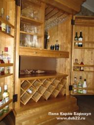 Шкаф-бар из берёзы. Мебель деревянная.