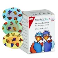 Глазные клеящиеся пластыри Оптиклюд Opticlude цветные с картинками 30 шт. maxi от 3-х лет