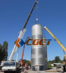 200Т ЦКТ Танк брожения для пивзавода Резервуар для брожения и дображивания пива бродильный чан