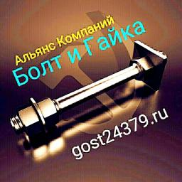 Фундаментный болт с анкерной плитой тип 2.1 м24х450 сталь 3сп2 ГОСТ 24379.1-2012