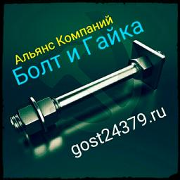 Фундаментный болт с анкерной плитой тип 2.1 м24х1120 сталь 3сп2 ГОСТ 24379.1-2012