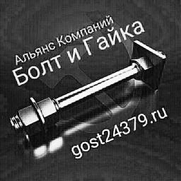 Фундаментный болт с анкерной плитой тип 2.1 м24х1250 сталь 3сп2 ГОСТ 24379.1-2012