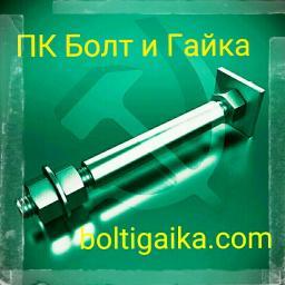 Фундаментный болт с анкерной плитой тип 2.2 м56х1500 сталь 3сп2 ГОСТ 24379.1-2012