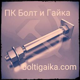 Фундаментный болт с анкерной плитой тип 2.2 м64х1000 сталь 3сп2 ГОСТ 24379.1-2012