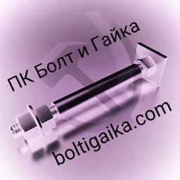 Фундаментный болт с анкерной плитой тип 2.2 м80х1320 сталь 3сп2 ГОСТ 24379.1-2012