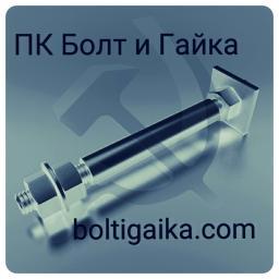 Фундаментный болт с анкерной плитой тип 2.2 м80х1600 сталь 3сп2 ГОСТ 24379.1-2012