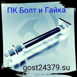 Фундаментный болт с анкерной плитой тип 2.2 м80х2500 сталь 3сп2 ГОСТ 24379.1-2012