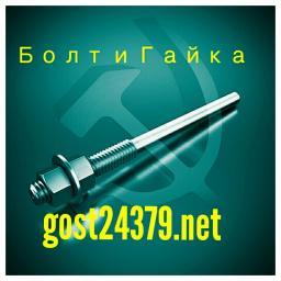 Фундаментный болт прямой тип 5 м30х600 сталь 3сп2 ГОСТ 24379.1-2012