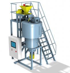 Установка термоактивации (центробежный флаш-реактор барабанного типа)