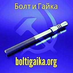 Фундаментный болт с коническим концом тип 6.1 м24х450 сталь 3сп2 ГОСТ 24379.1-2012