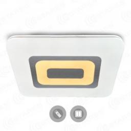 Светильник накладной светодиодный Estares QUADRON DOUBLE 136W (11560lm) 2K-4K-6K 800x600x47мм с пультом ДУ матовый