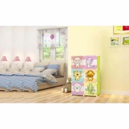 Детский складной шкаф, 70*35*105 см