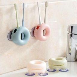 Набор держатель зубных щёток Пончик + стакан