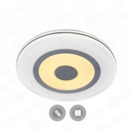 Светильник накладной светодиодный Estares QUADRON DOUBLE 72W (6120lm) 2K-4K-6K круг d550x60мм с пультом ДУ матовый