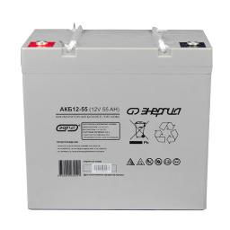 Аккумулятор для ИБП Энергия АКБ 12-55 (тип AGM)