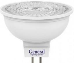 Светодиодная лампа General MR16 GU5.3 7W (570lm) 4500K 4K 50x50 пластик/алюм с рефлект. 110°
