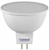 Светодиодная лампа General MR16 GU5.3 8W (570lm) 3000K 2K 50x50 пластик/алюм
