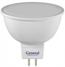 Светодиодная лампа General MR16 GU5.3 8W (600lm) 6500K 6K 50x50 пластик/алюм
