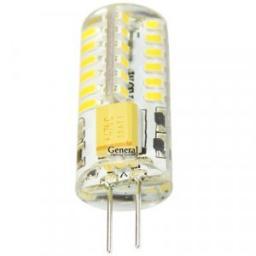 Светодиодная лампа General G4 220V 4W (300lm) 2700K 2K 43x15 силикон BL5