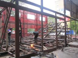 Демонтаж металлоконструкций.