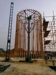 Вертикальное оборудование для производства стеклопластиковых резервуаров