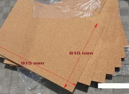Пробковая подложка под ламинат листовая 4 мм
