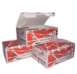 Упаковка картонная для наггетсов и куриных крылышек р-р S 115х75х45мм, серия