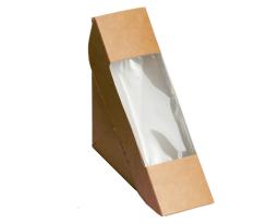 Упаковка для сэндвичей р-р 125х125х40мм из крафт картона, серия