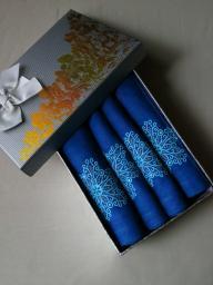 Комплект синих салфеток