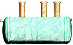 Септик стеклопластиковый ST-10 (объём 10 куб.м)