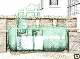 Очистное сооружение локальное STBIO-2 (объём 2 куб.м) с биофильтром