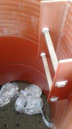 Кольцо тела колодца 1000мм,h=500мм с лестницей