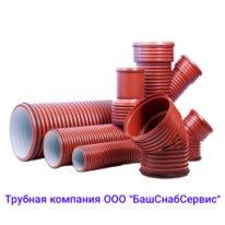 Труба OD160 ПП гофр. двухсл. с растр. ГОСТ54475-2011 6м.Pragma