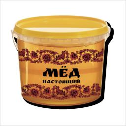 мед натуральный фасованный Липовый 1,0 кг. в пласт. таре