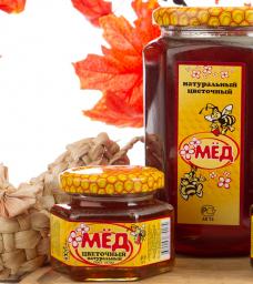 мёд натуральный фасованный Цветочный 250 гр. в ст/б
