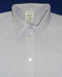 Сорочка Жаккард полоска белая с отливом